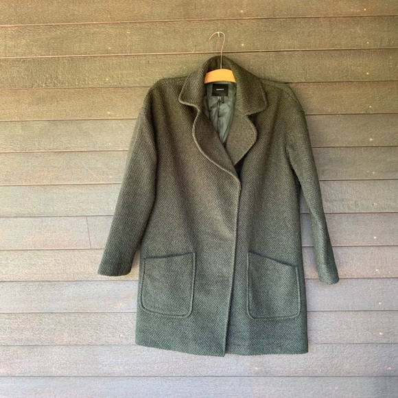 affordable price meticulous dyeing processes half price Oversized Peacoat